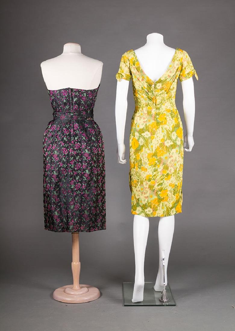 TWO EVENING DRESSES, c. 1960 - 3