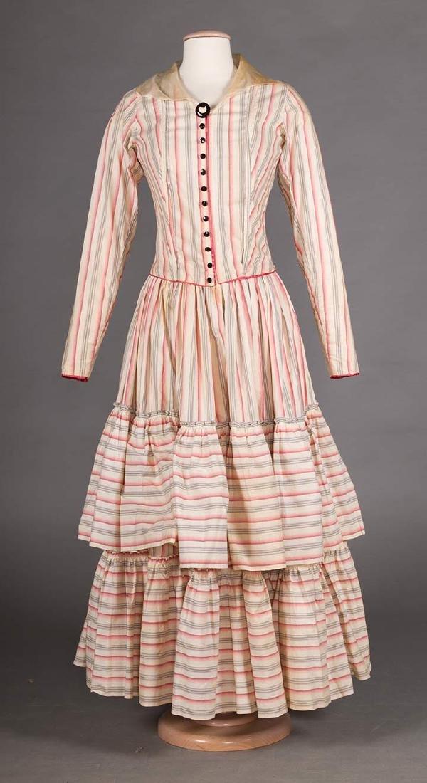 RIBBON CANDY STRIPED DRESS, 1910