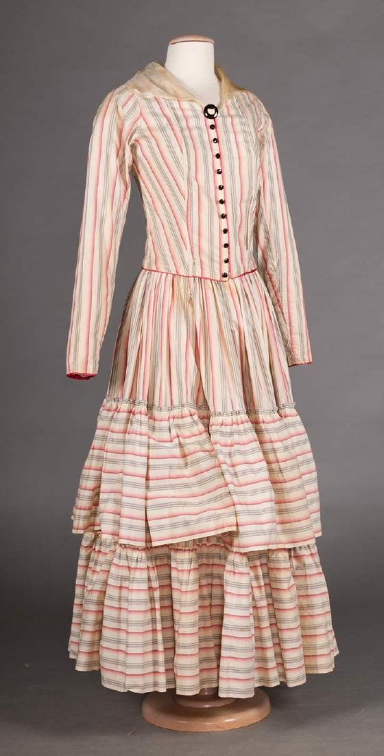 RIBBON CANDY STRIPED DRESS, 1910 - 2