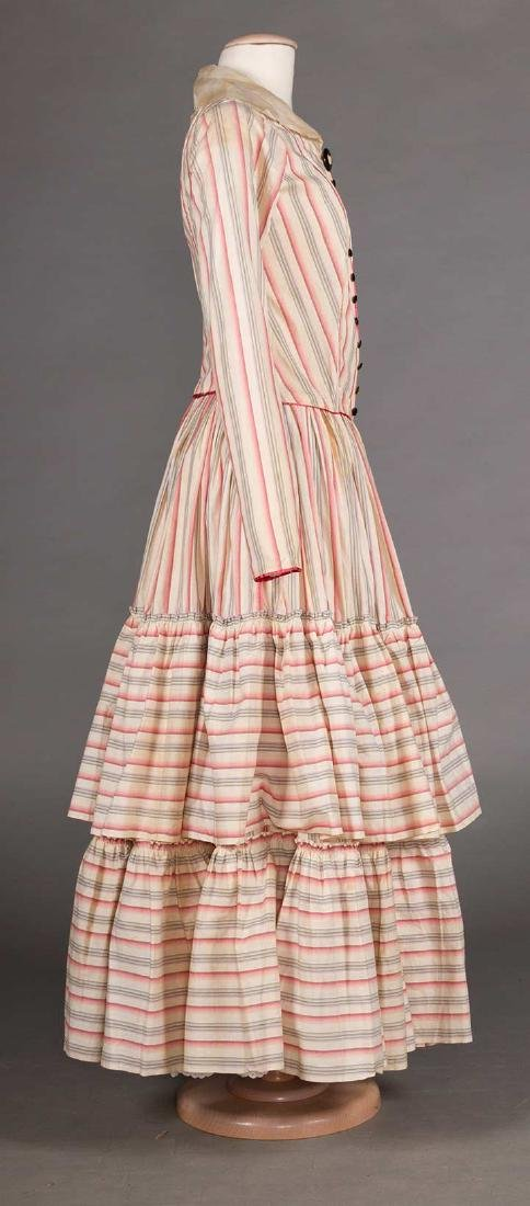RIBBON CANDY STRIPED DRESS, 1910 - 3