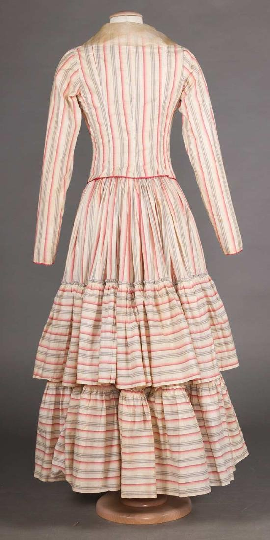 RIBBON CANDY STRIPED DRESS, 1910 - 4
