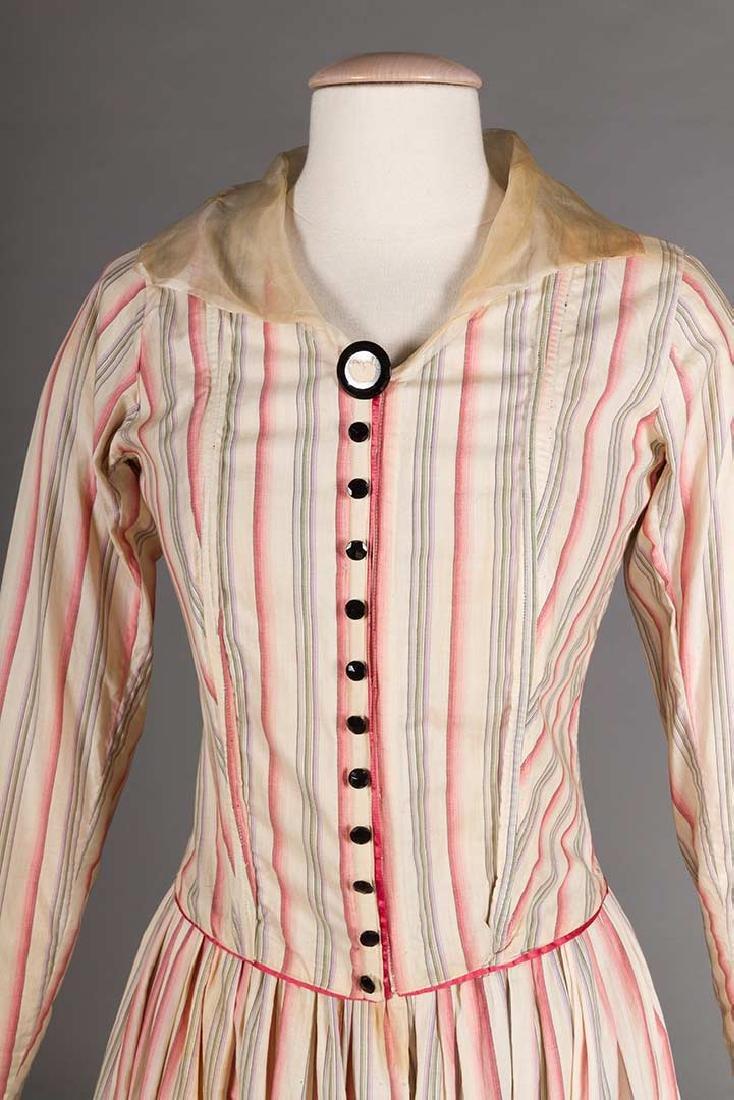 RIBBON CANDY STRIPED DRESS, 1910 - 5