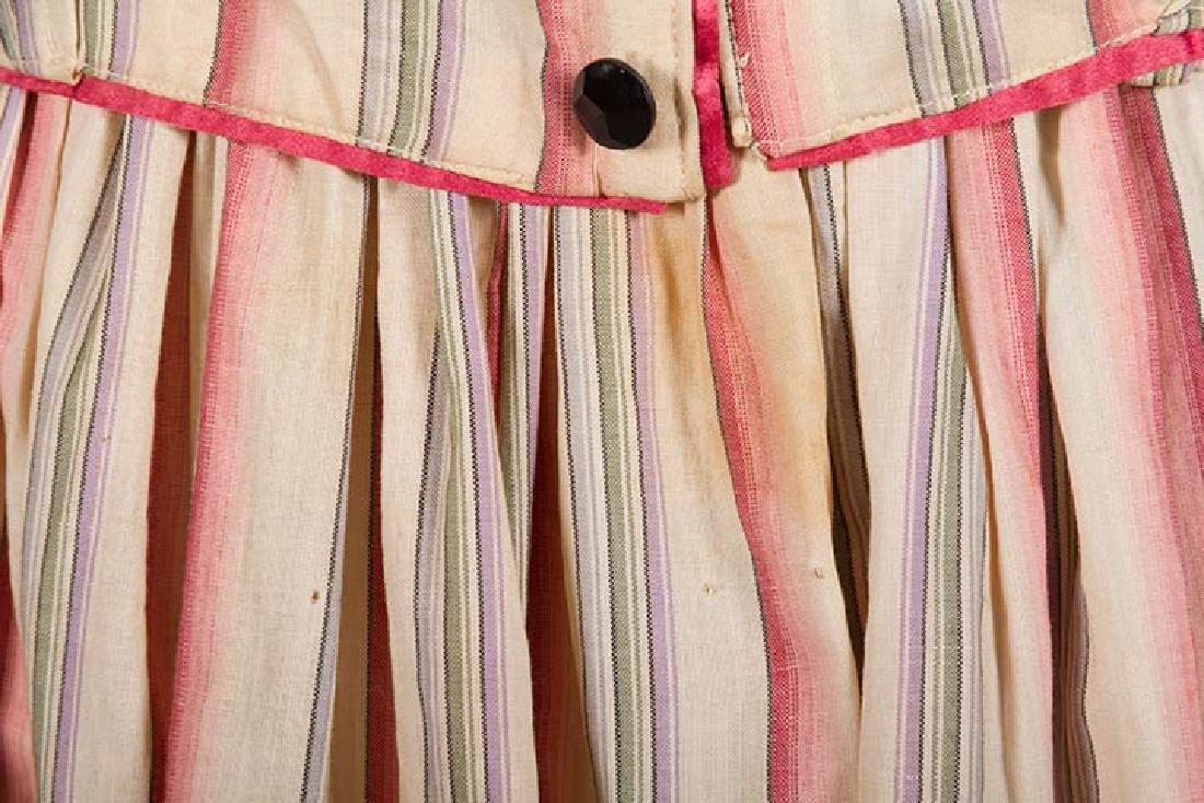 RIBBON CANDY STRIPED DRESS, 1910 - 8