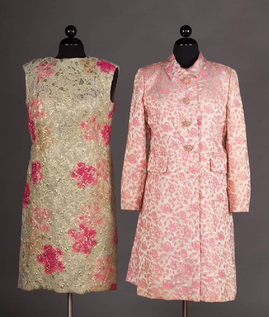 2 METALLIC LAME PARTY DRESSES, 1960s - 2