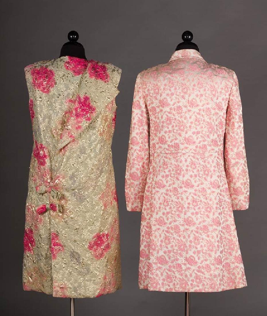 2 METALLIC LAME PARTY DRESSES, 1960s - 3