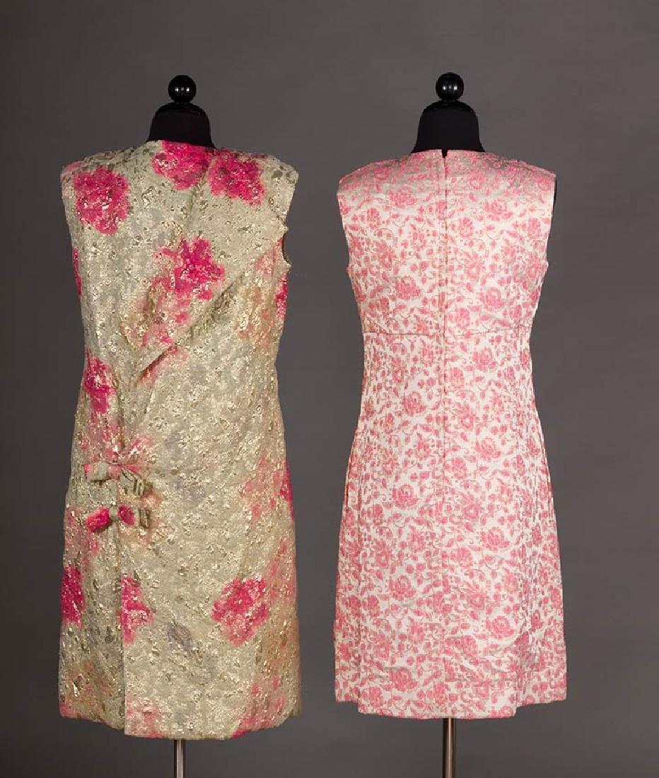 2 METALLIC LAME PARTY DRESSES, 1960s - 4