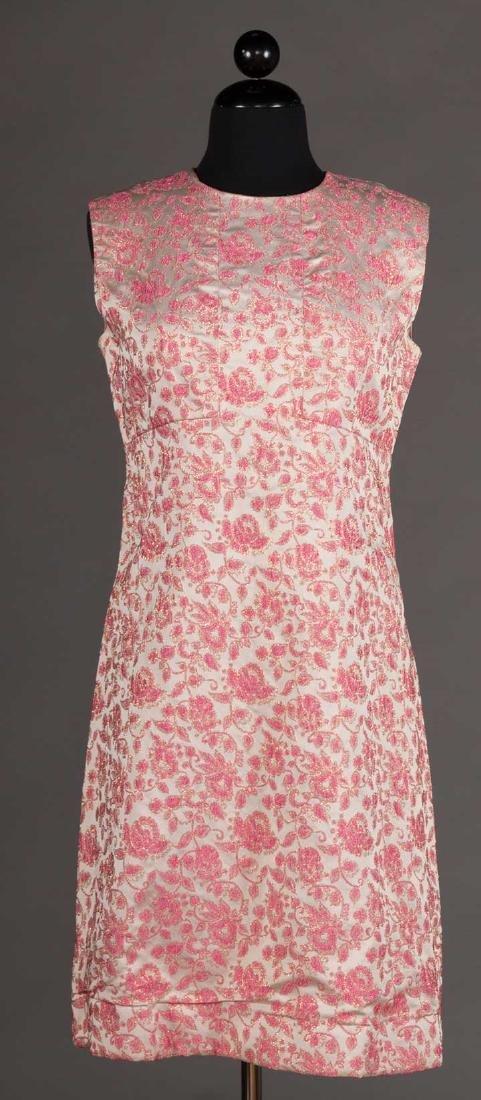 2 METALLIC LAME PARTY DRESSES, 1960s - 5