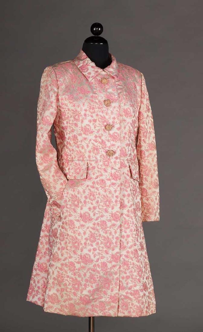2 METALLIC LAME PARTY DRESSES, 1960s - 6