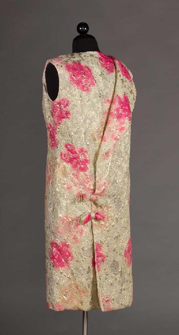 2 METALLIC LAME PARTY DRESSES, 1960s - 8