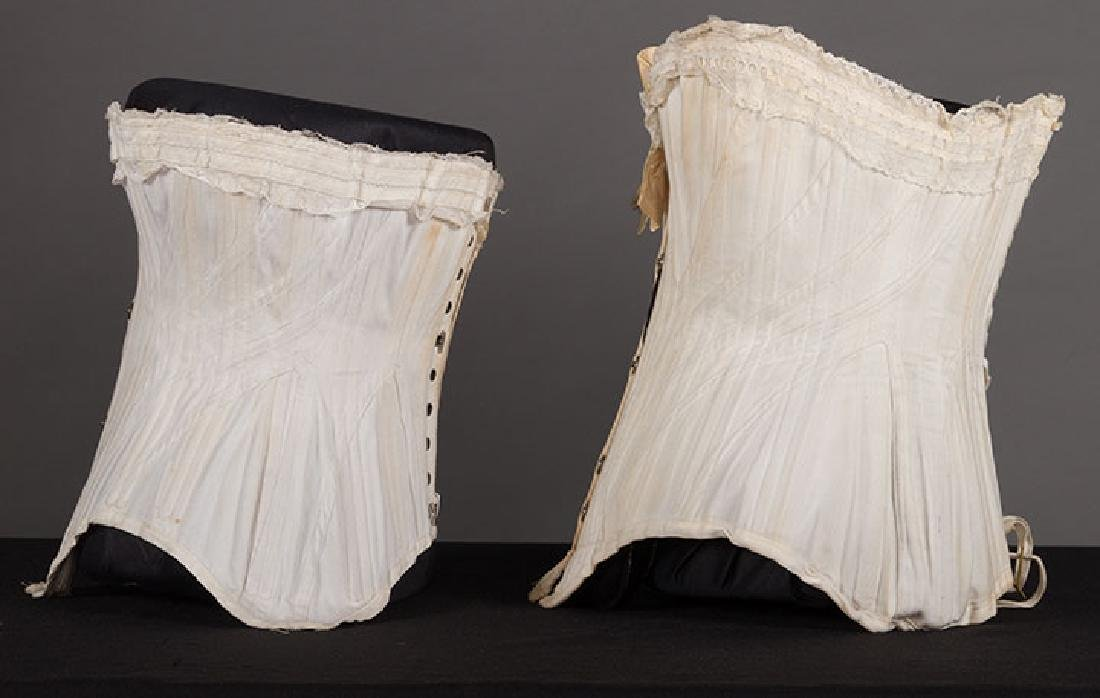 4 WHITE GIRLS CORSETS, EARLY 20th C - 3