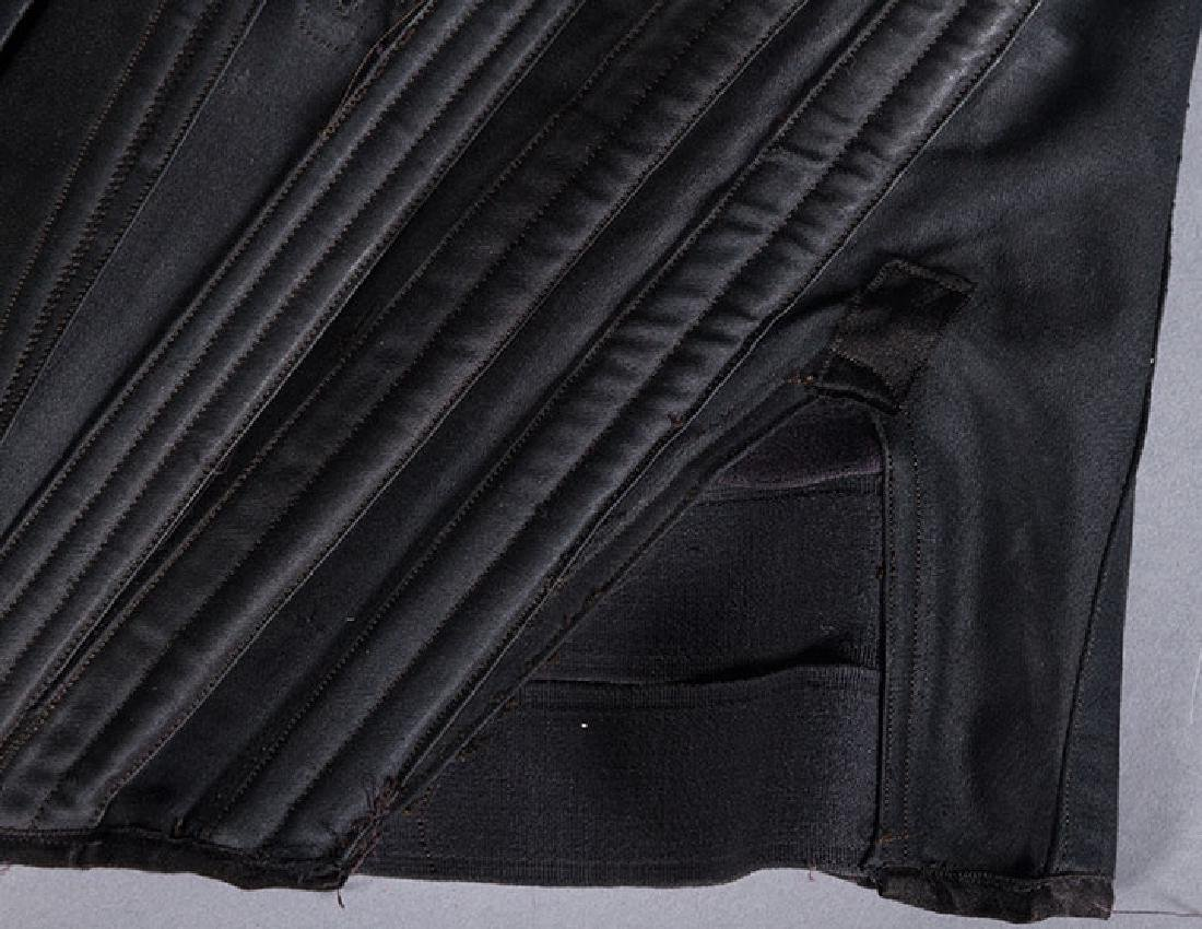 BLACK SATIN CORSET, c. 1900 - 7