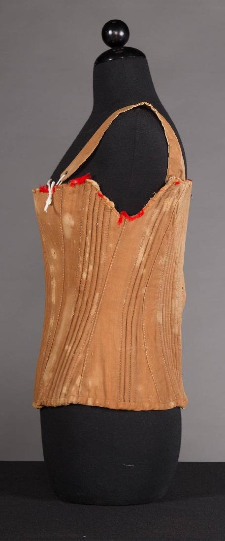 YOUNG LADY STAYS & 3 CORSETS, 19th C. - 3