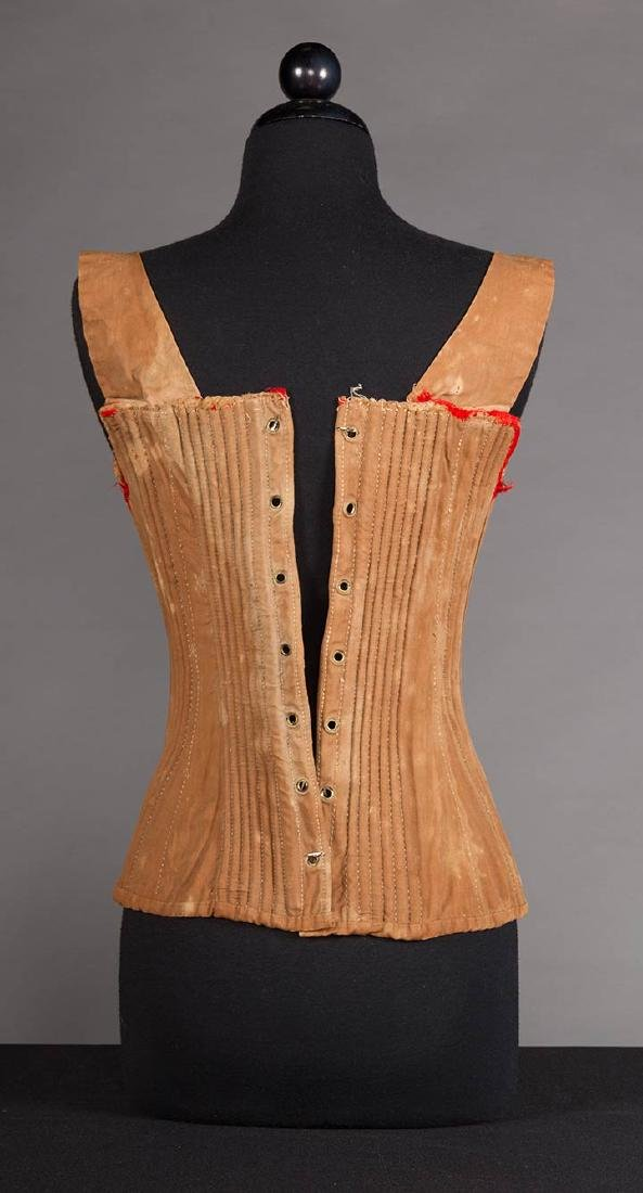 YOUNG LADY STAYS & 3 CORSETS, 19th C. - 4