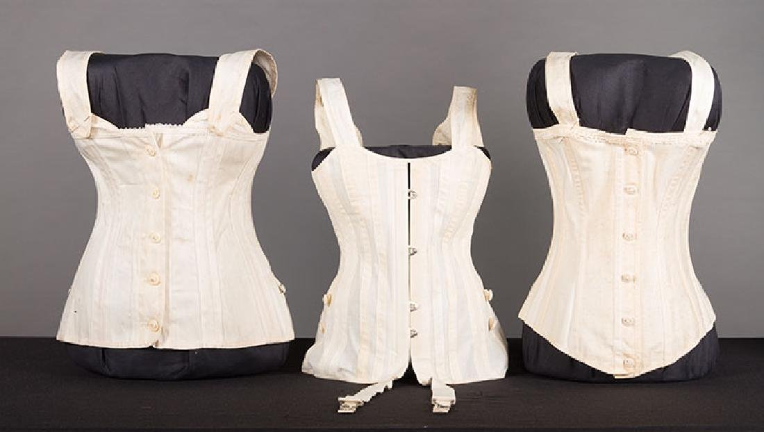 YOUNG LADY STAYS & 3 CORSETS, 19th C. - 5