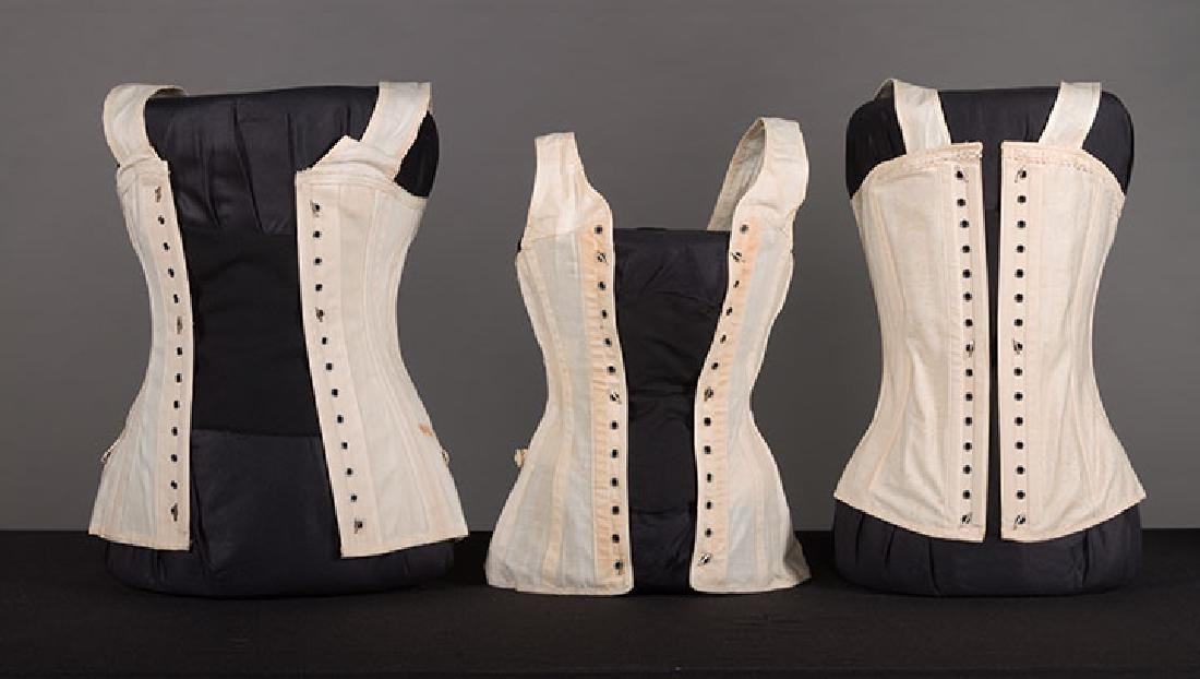 YOUNG LADY STAYS & 3 CORSETS, 19th C. - 6
