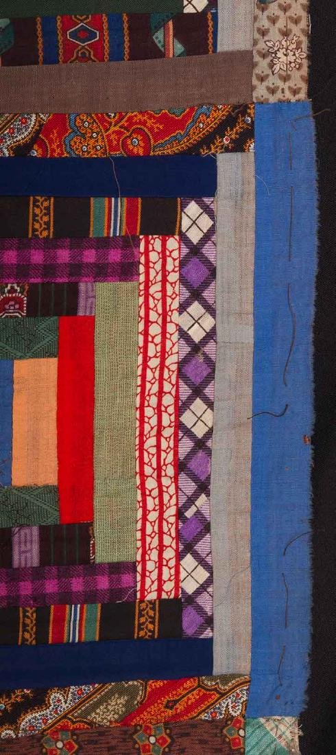 2 19th C. LOG CABIN QUILTS - 10
