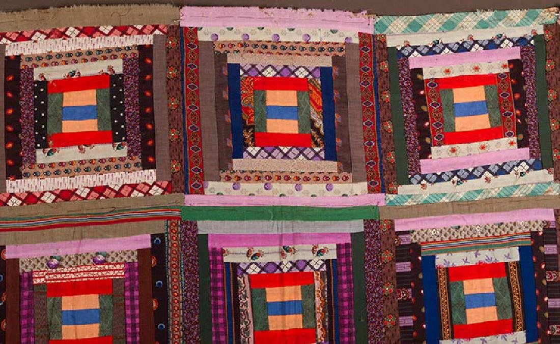 2 19th C. LOG CABIN QUILTS - 2