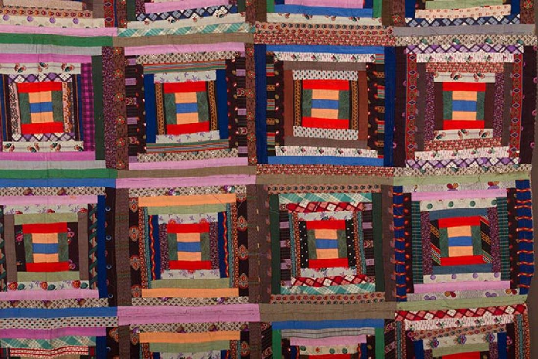 2 19th C. LOG CABIN QUILTS - 3