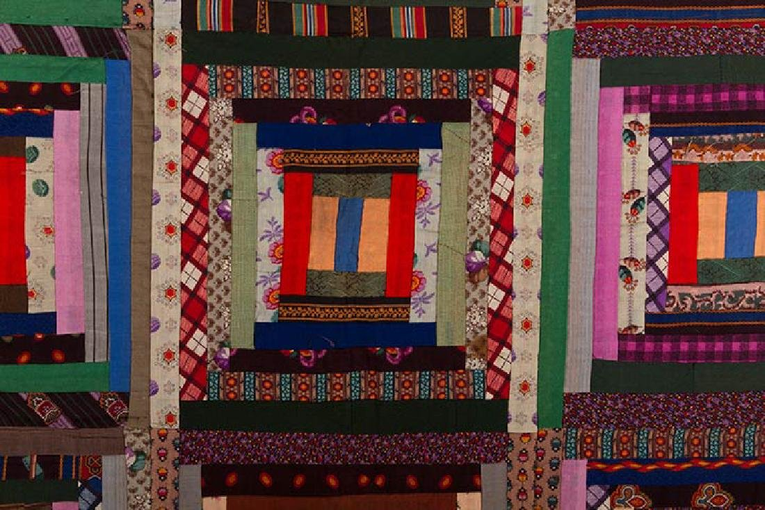 2 19th C. LOG CABIN QUILTS - 6