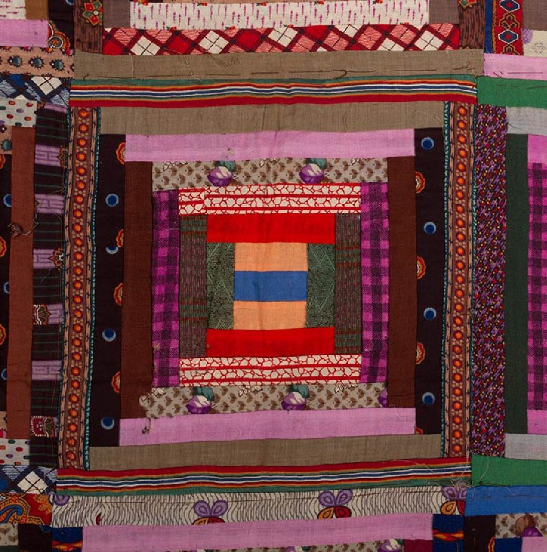 2 19th C. LOG CABIN QUILTS - 7