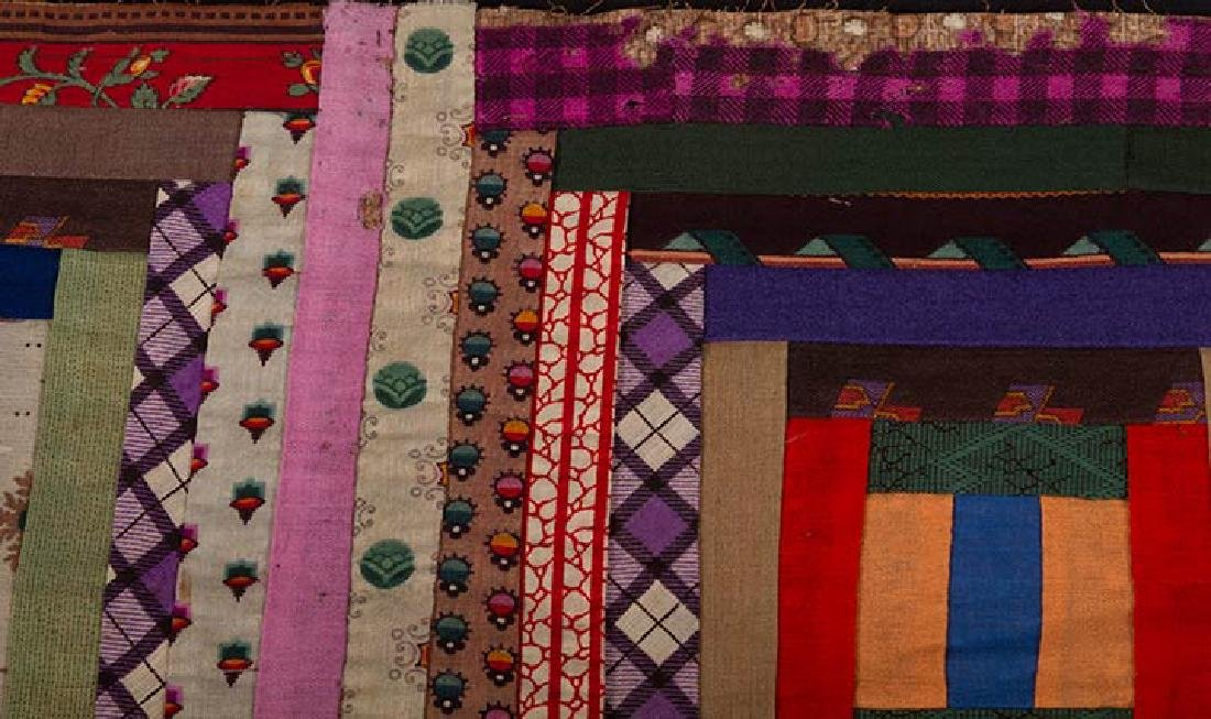 2 19th C. LOG CABIN QUILTS - 8