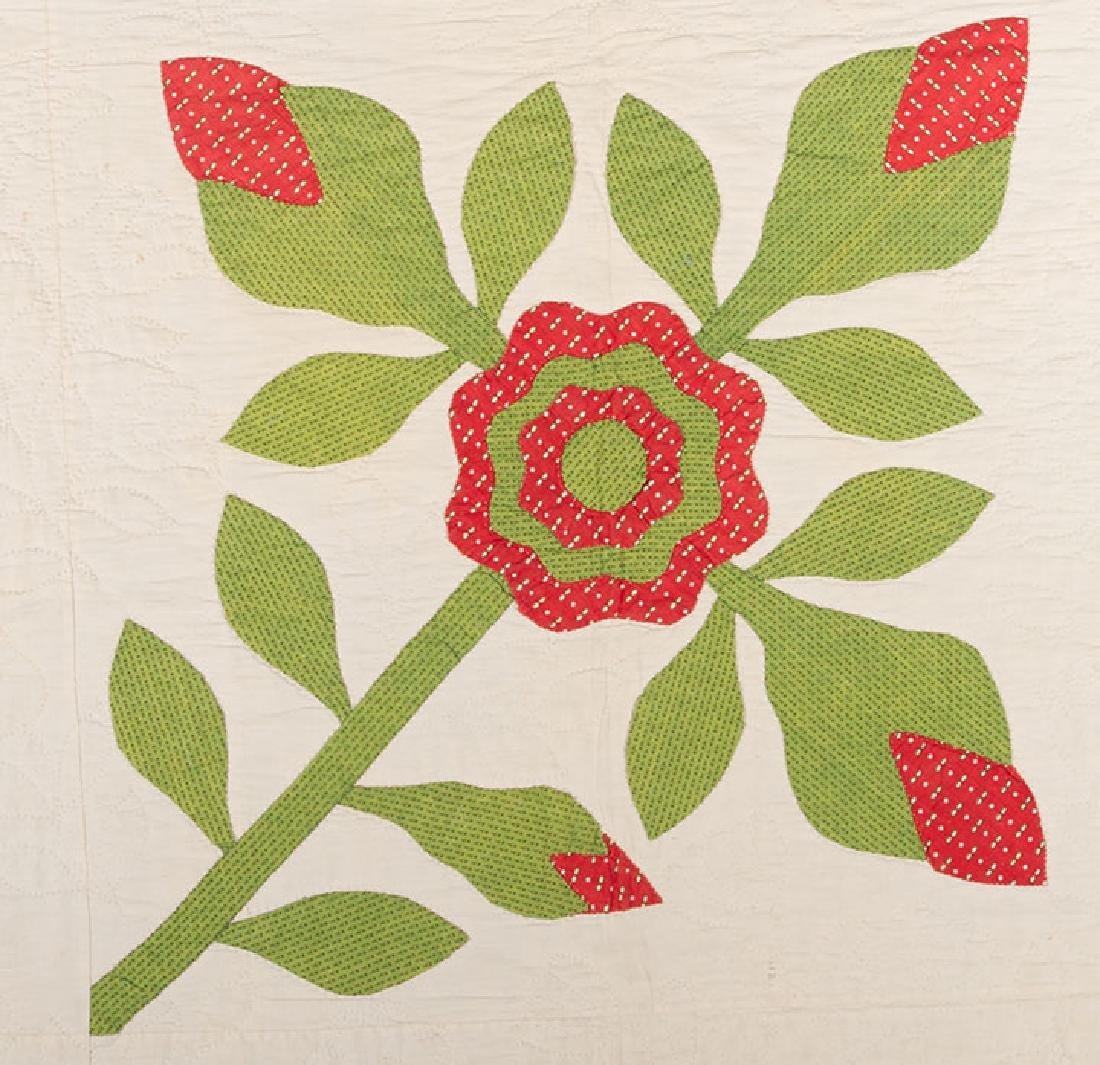 ROSE OF SHARON QUILT, 1860-1880 - 2