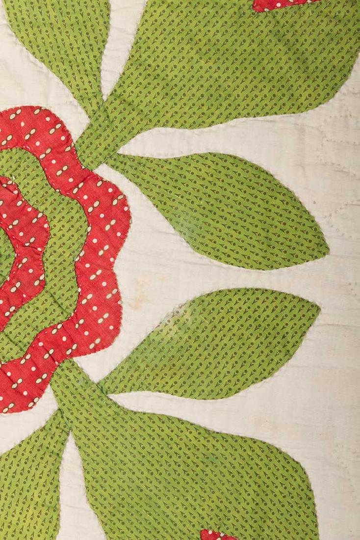 ROSE OF SHARON QUILT, 1860-1880 - 4