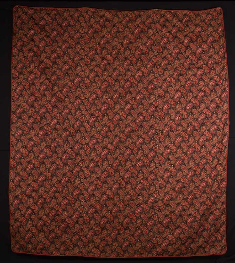 LARGE LOG CABIN QUILT, c. 1905 - 6
