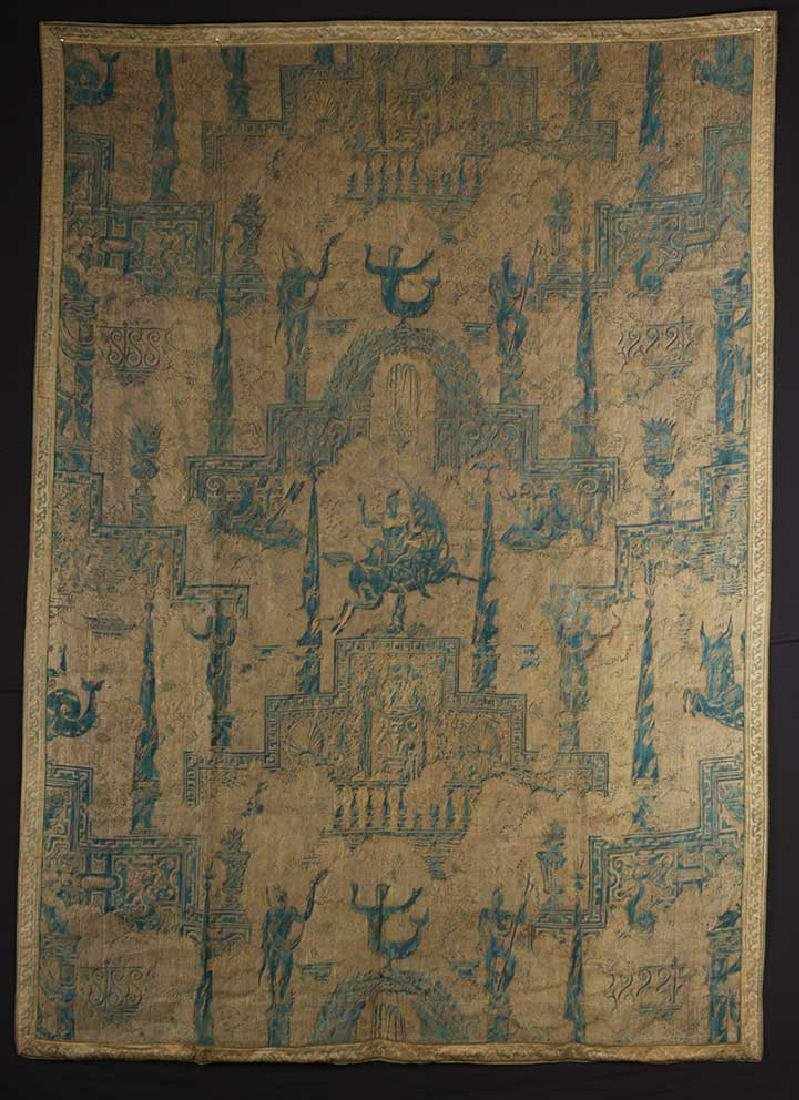 """LARGE FORTUNY PANEL, """"OBELISCO"""", ITALY, EARLY 20th C."""