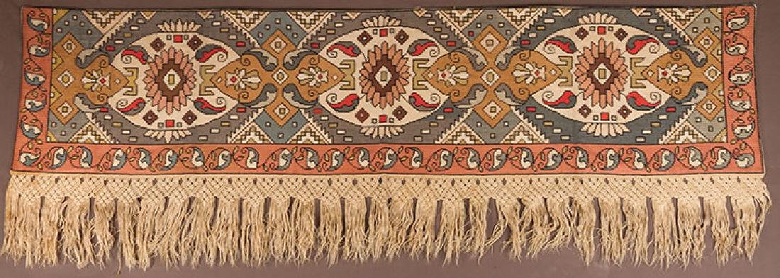 PAIR OF WOVEN DRAPES w/ VALANCE, GREECE