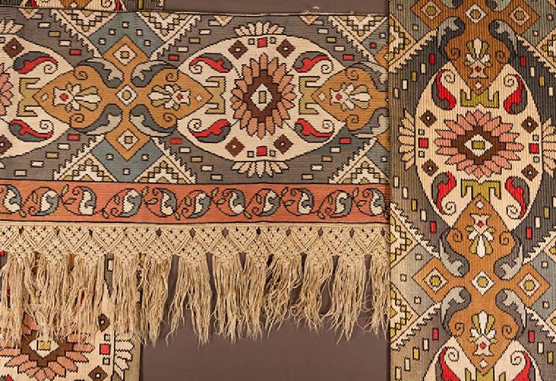 PAIR OF WOVEN DRAPES w/ VALANCE, GREECE - 2