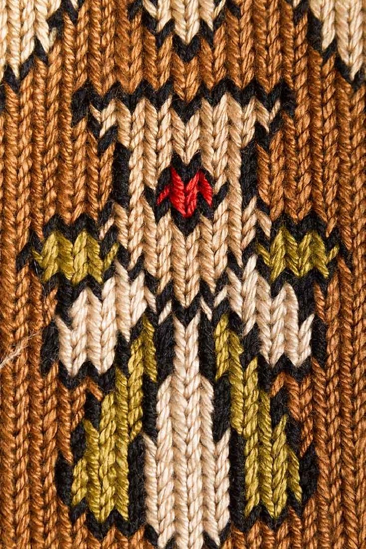 PAIR OF WOVEN DRAPES w/ VALANCE, GREECE - 7