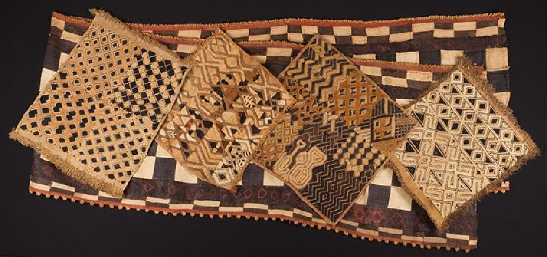 5 AFRICAN TEXTILES, 20th C.