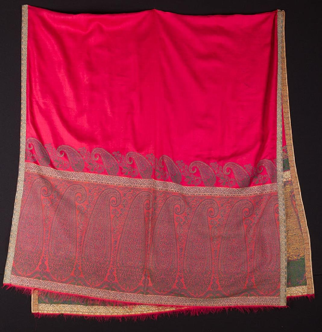 JACQUARD PAISLEY STOLE, EARLY 19th C.
