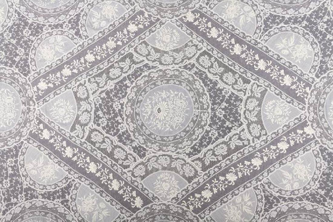 LARGE NORMANDY LACE BEDSPREAD, c. 1910 - 3