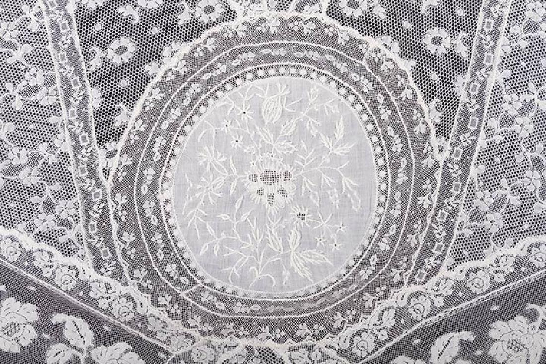 NORMANDY LACE BEDSPREAD, c. 1900 - 2