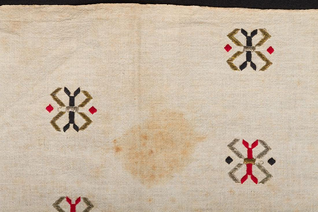 6 ETHNIC EMBROIDERED TEXTILES, 19th C. - 10
