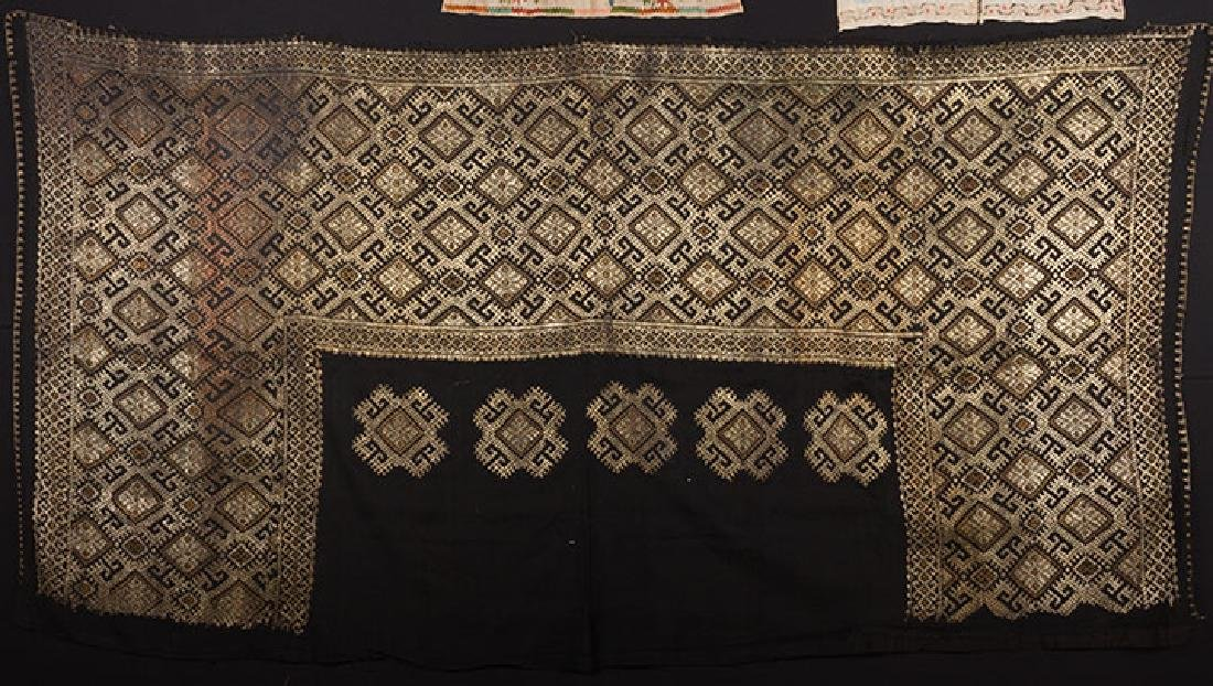 6 ETHNIC EMBROIDERED TEXTILES, 19th C. - 2