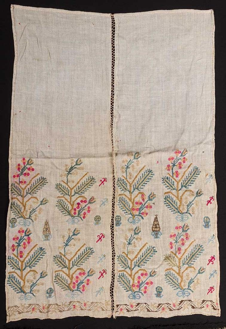 6 ETHNIC EMBROIDERED TEXTILES, 19th C. - 4
