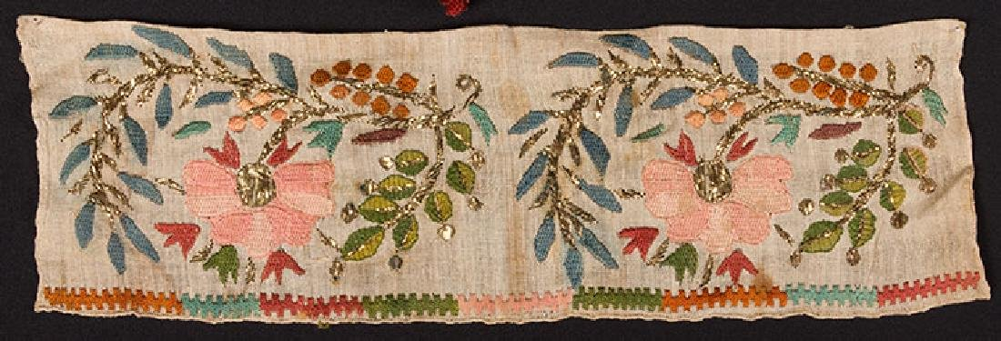 6 ETHNIC EMBROIDERED TEXTILES, 19th C. - 5