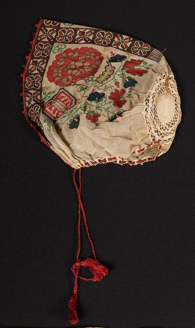 6 ETHNIC EMBROIDERED TEXTILES, 19th C. - 7