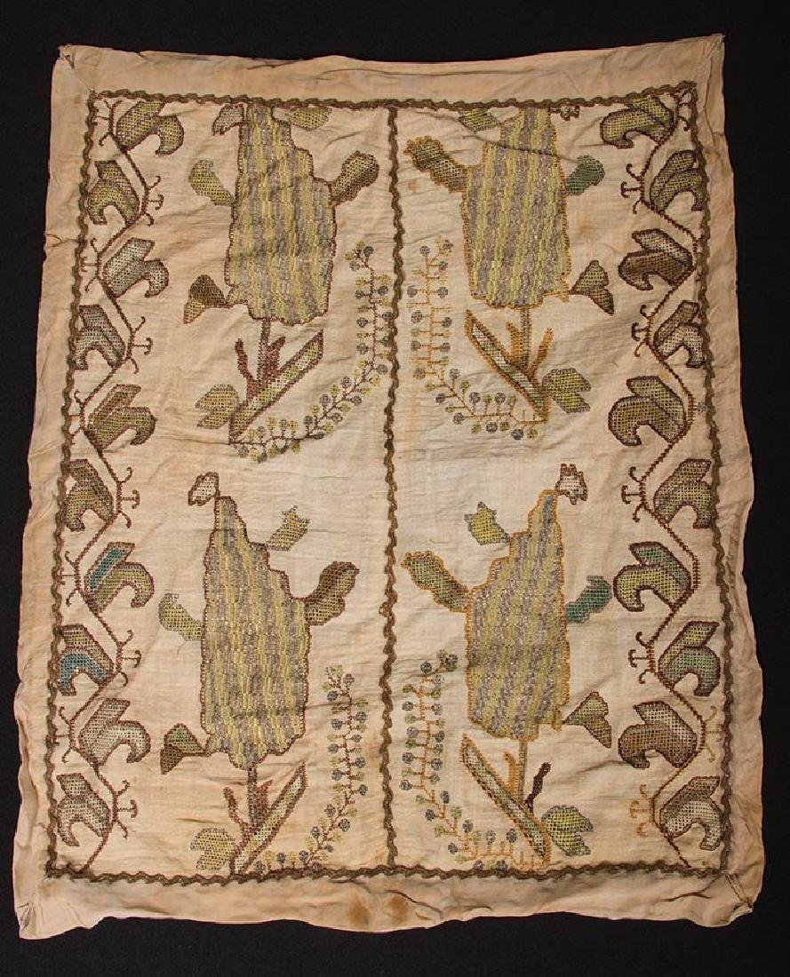 6 ETHNIC EMBROIDERED TEXTILES, 19th C. - 8