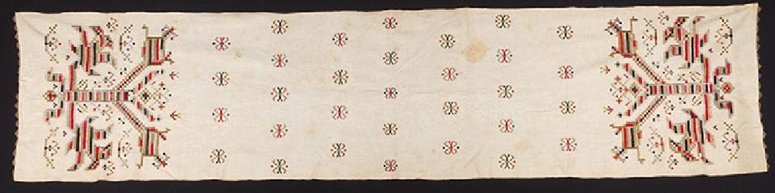 6 ETHNIC EMBROIDERED TEXTILES, 19th C. - 9