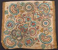 CZECH BEADED PANEL FROM SHAWL, 1870-1880