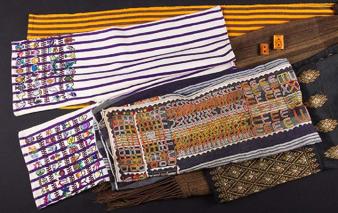 LOT OF ASSORTED ETHNIC PANELS, 20th C.