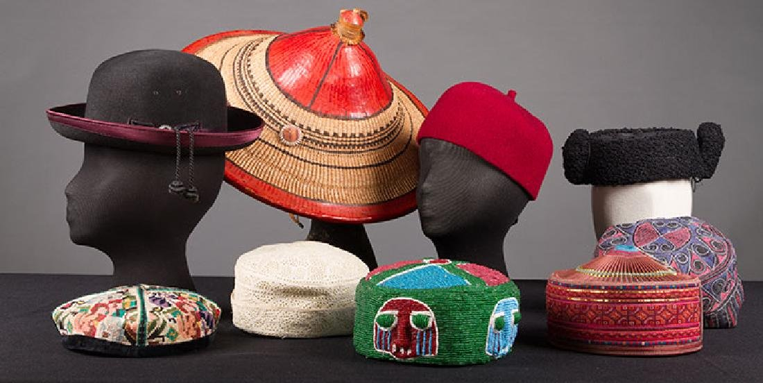 LOT OF FIFTEEN HATS, 19th & 20th C