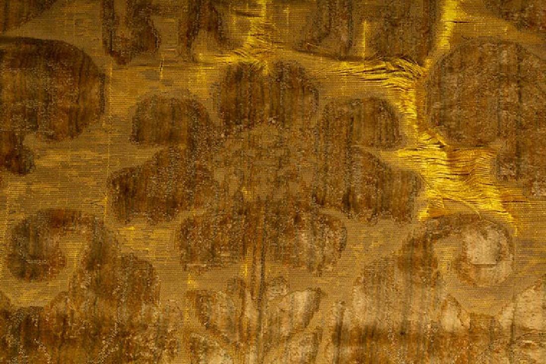 YELLOW VOIDED VELVET PANEL, ITALIAN, 1600s - 2