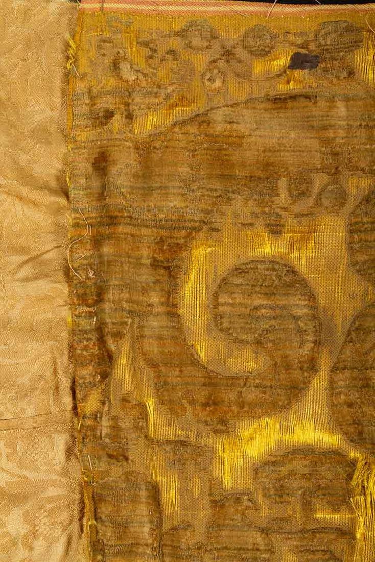 YELLOW VOIDED VELVET PANEL, ITALIAN, 1600s - 4