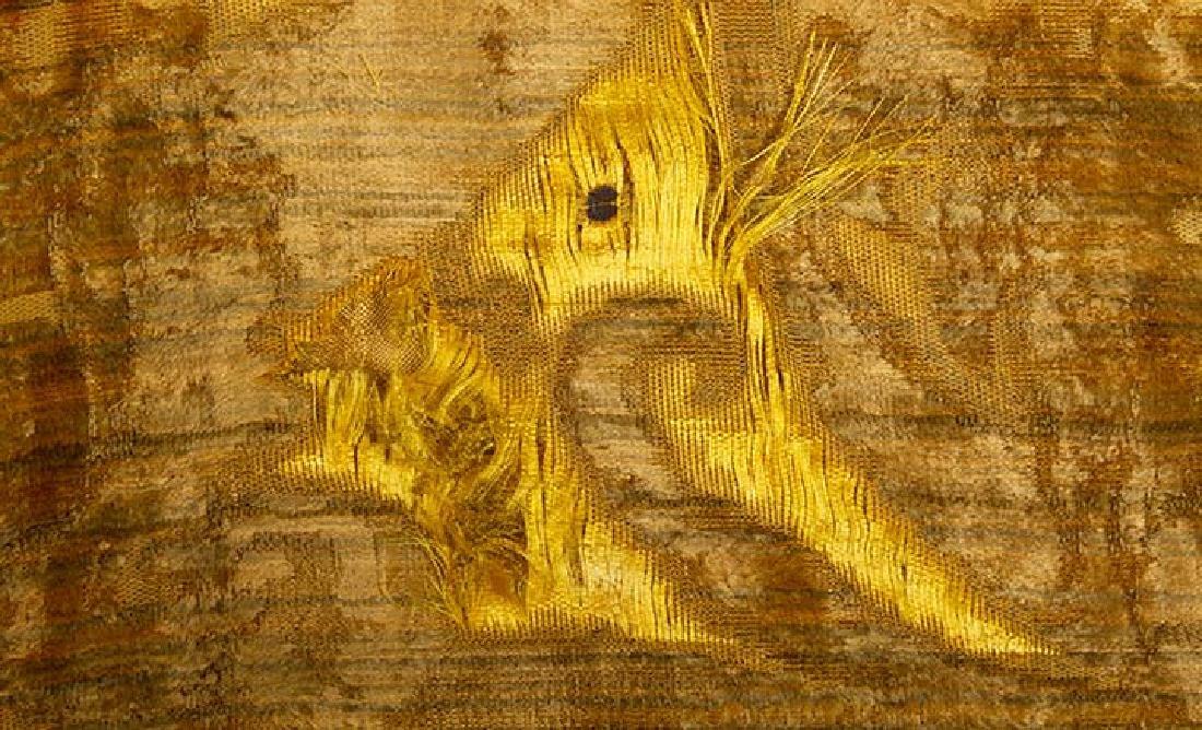 YELLOW VOIDED VELVET PANEL, ITALIAN, 1600s - 5
