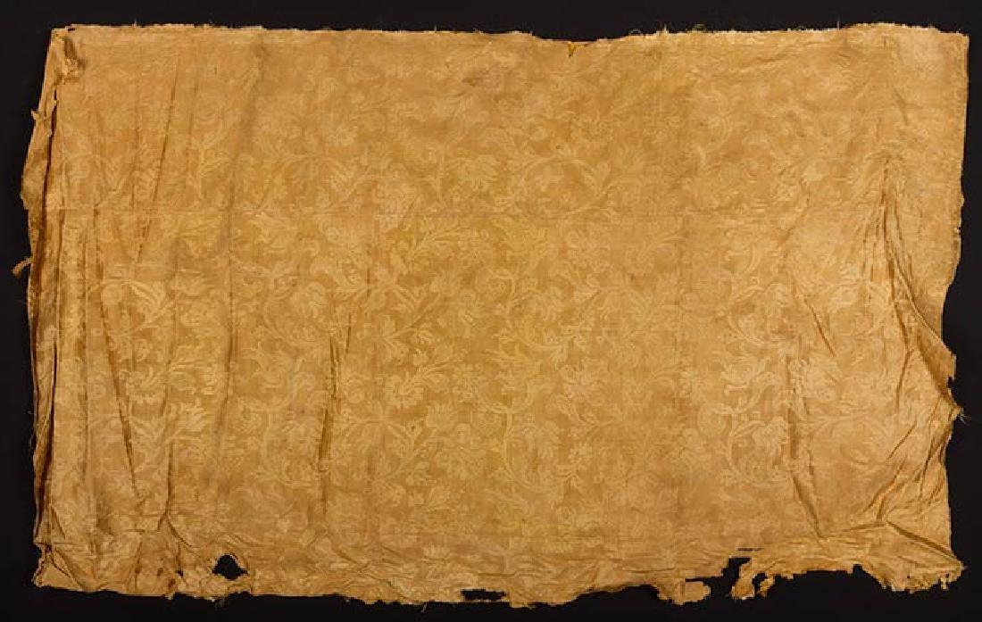 YELLOW VOIDED VELVET PANEL, ITALIAN, 1600s - 7